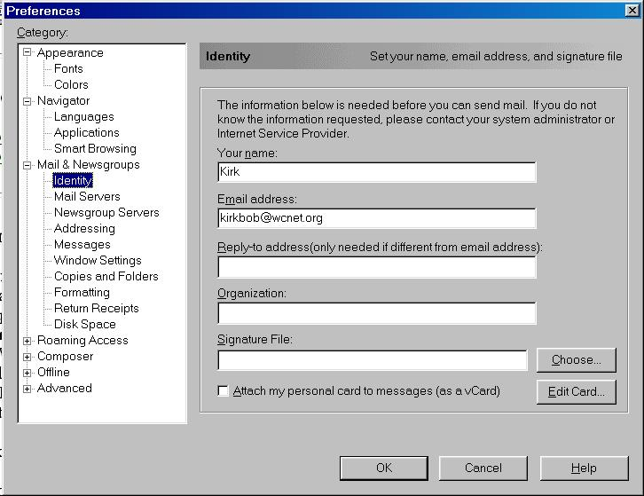 Configuring and using Netscape 4 x